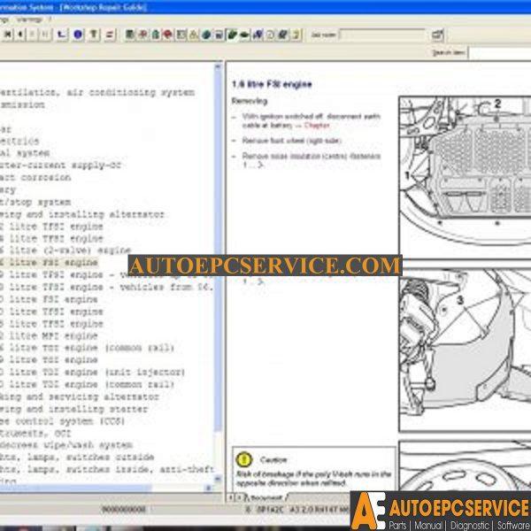 audi workshop manual software