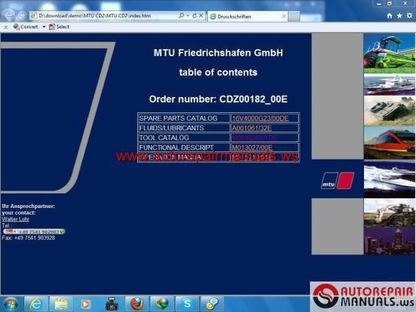CD Tranning Engine MTU Series 4000 (CD 2)