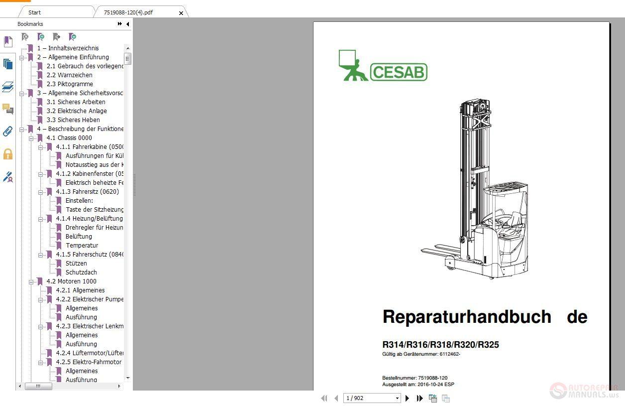 CESAB Forklift 2018 Full Manual DVD – Auto Repair Software-Auto EPC  Software-Auto Repair Manual-Workshop Manual-Service Manual-Workshop Manual