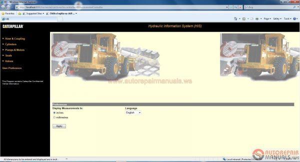 Caterpillar Hydraulic Information System (HIS) 2011 English