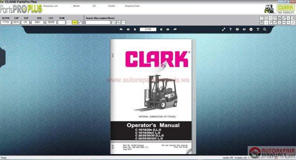 Clark ForkLift Parts Pro Plus v458 [12 2017]