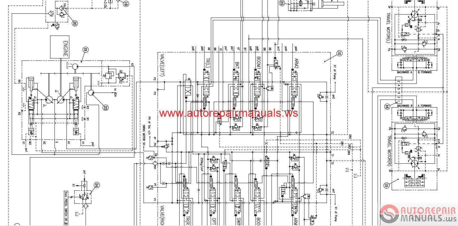 doosan all schematics hydraulic  u0026 electrical