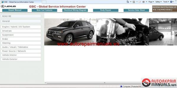 2012 lexus is250 service repair manual software