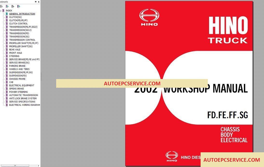 HINO Trucks Service Manual & EPC Full DVD [11 2018]