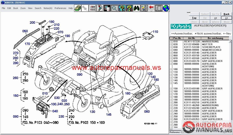 Kubota Parts Diagram - Today Wiring Schematic Diagram