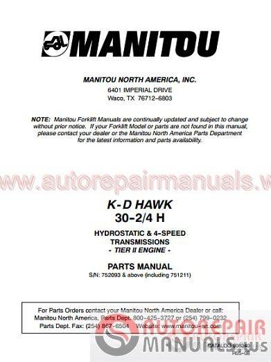 Manitou All Model Full Shop Manual DVD