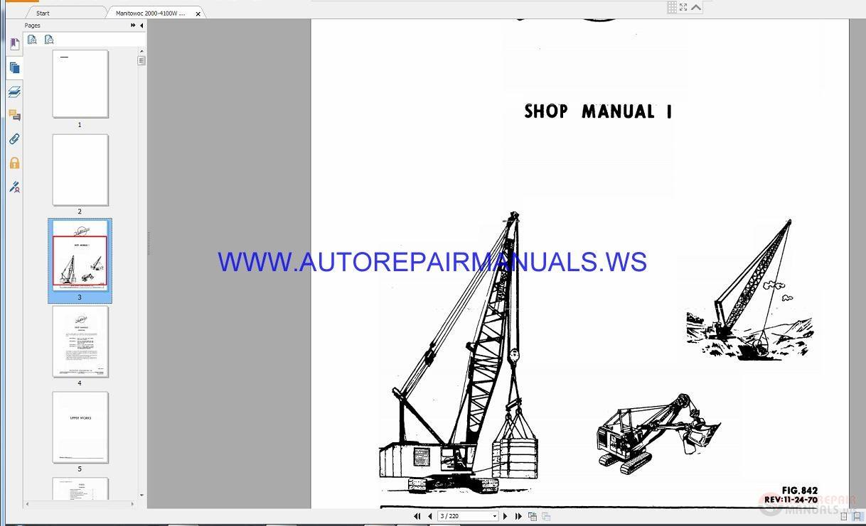 Manitowoc Crane Service, Parts and Operators Manual Full DVD – Auto Repair  Software-Auto EPC Software-Auto Repair Manual-Workshop Manual-Service ...