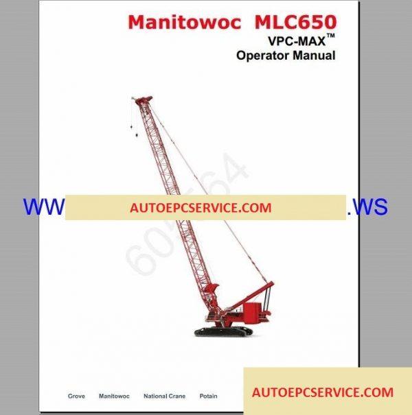 Manitowoc Crawler Cranes All Model Shop Manual DVD
