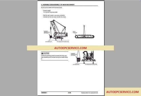 Manitowoc Crawler Cranes 111 14000 Service Manual on