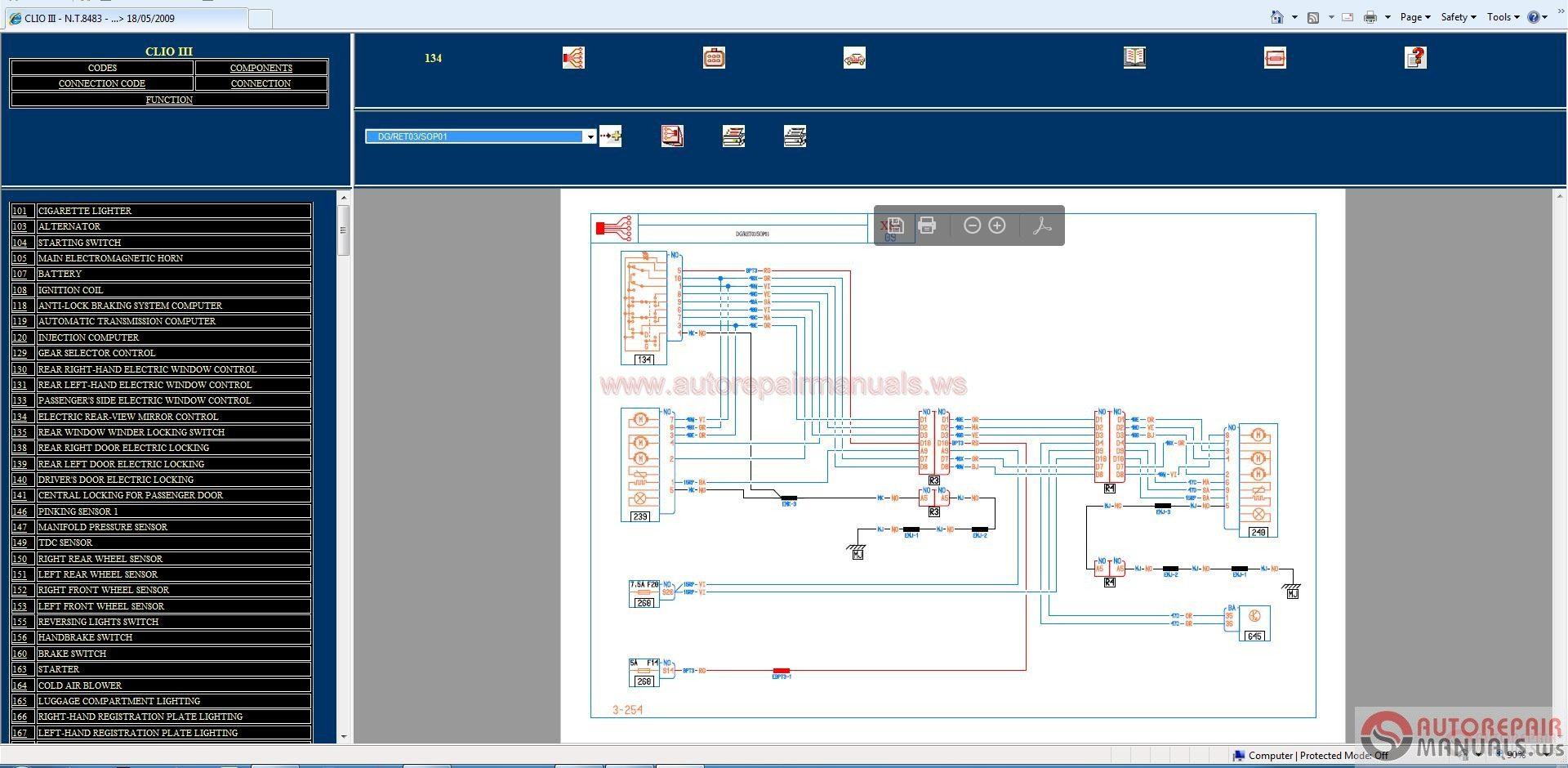 Renault Wiring Diagrams 1998 2014 All Model Full Dvd Auto Repair International 254 Diagram Software Epc Manual Workshop Service