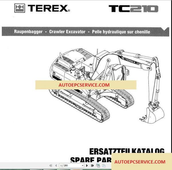 Terex Full Set Shop Manual, Operator Manual, Parts Manuals ...