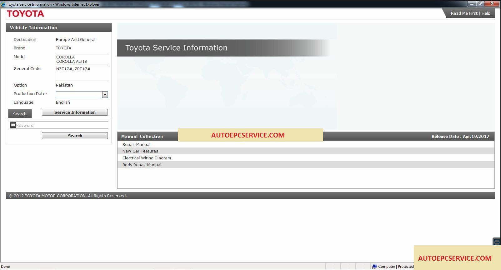 Toyota COROLLA ALTIS [07.2017] GSIC Workshop Manual – Auto Repair  Software-Auto EPC Software-Auto Repair Manual-Workshop Manual-Service Manual -Workshop ...