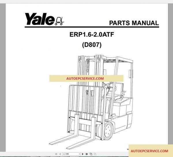 Yale Forklift Spare Parts PDF Full Set
