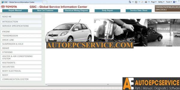 Gsic Toyota Yaris Ncp90 91 92 93 2008 2011 Workshop Manual Auto Repair Software Auto Epc Software Auto Repair Manual Workshop Manual Service Manual Workshop Manual