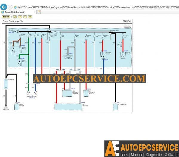 Hyundai Workshop Manual,Wiring Diagram [2000-2013] DVD on