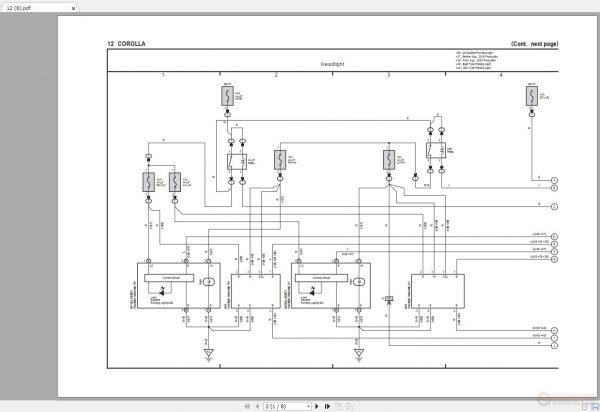 Toyota Corolla 2014-2019 Electrical Wiring Diagram