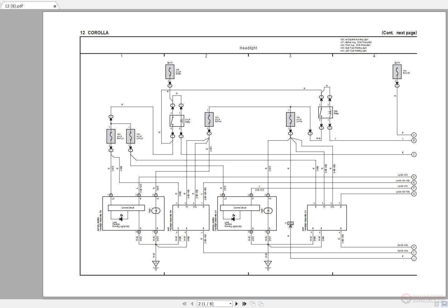 toyota corolla 2014-2019 electrical wiring diagram - auto repair  software-auto epc software-auto repair manual-workshop manual-service  manual-workshop manual  auto repair software-auto epc software-auto repair manual-workshop  manual-service manual-workshop manual