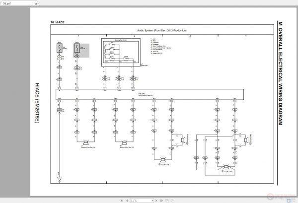 toyota hiace 20062018 electrical wiring diagram  auto