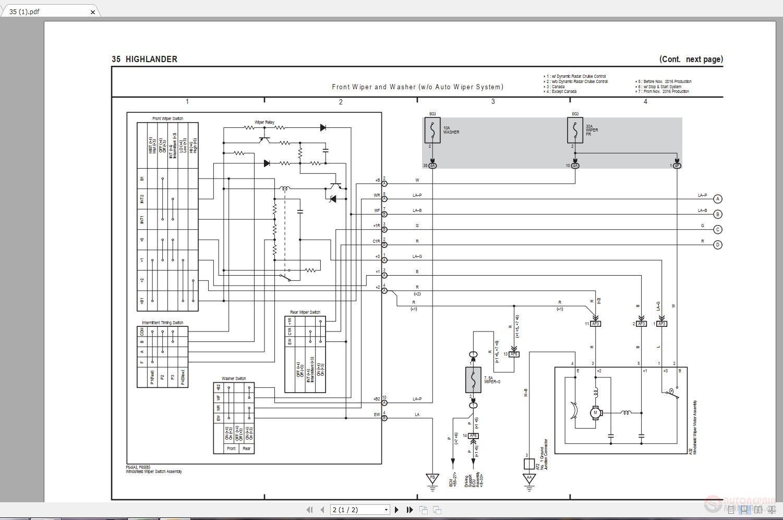 toyota highlander 2014 2018 electrical wiring diagram Toyota Highlander Wiring-Diagram Brake Switch