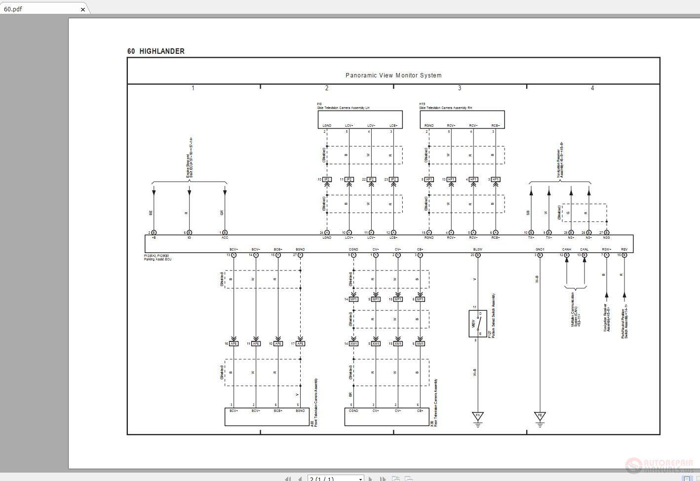 Toyota Highlander Wiring - Catalogue of Schemas on