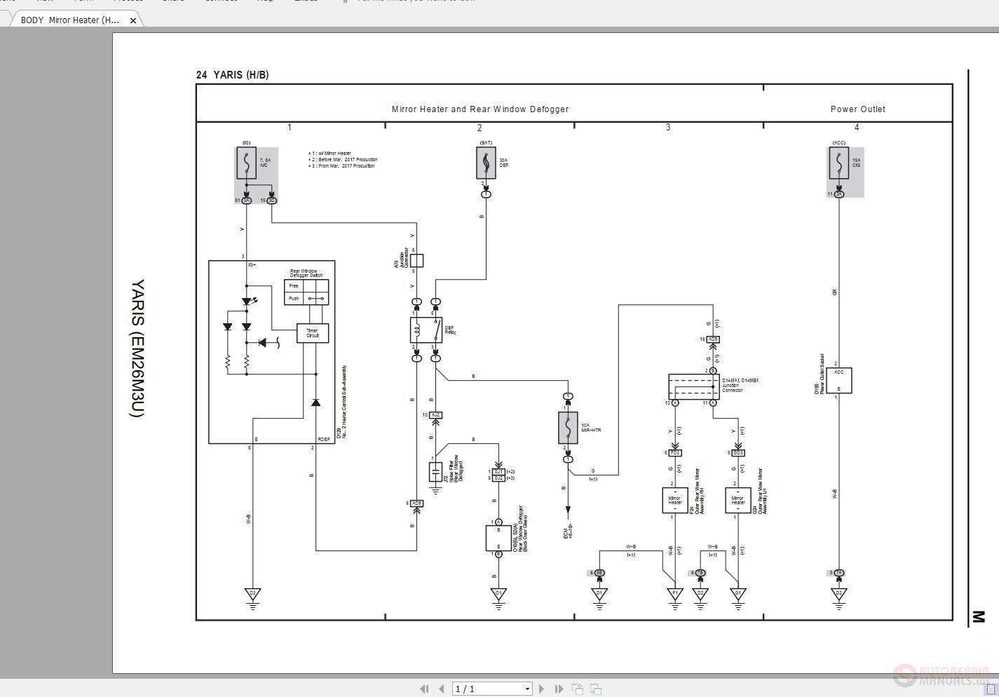 2007 Yaris Electrical Wiring Diagram