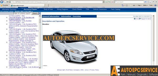 Ford ETIS Workshop Manual Europe 2012 VM