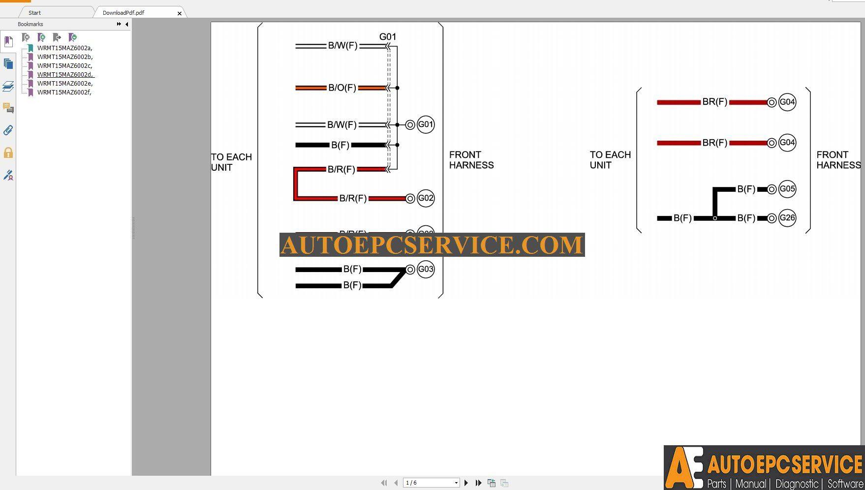 Mazda 6 2 5l 2015 Wiring Diagram