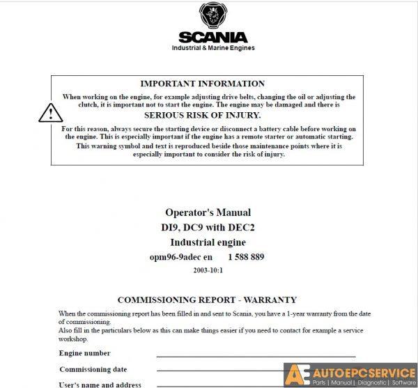 Scania Truck PDF Operator's Manual, Installation Manual DVD