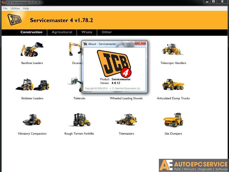 JCB EPC & Service Manual & ServiceMaster Diagnostic [02 2019] Full DVD
