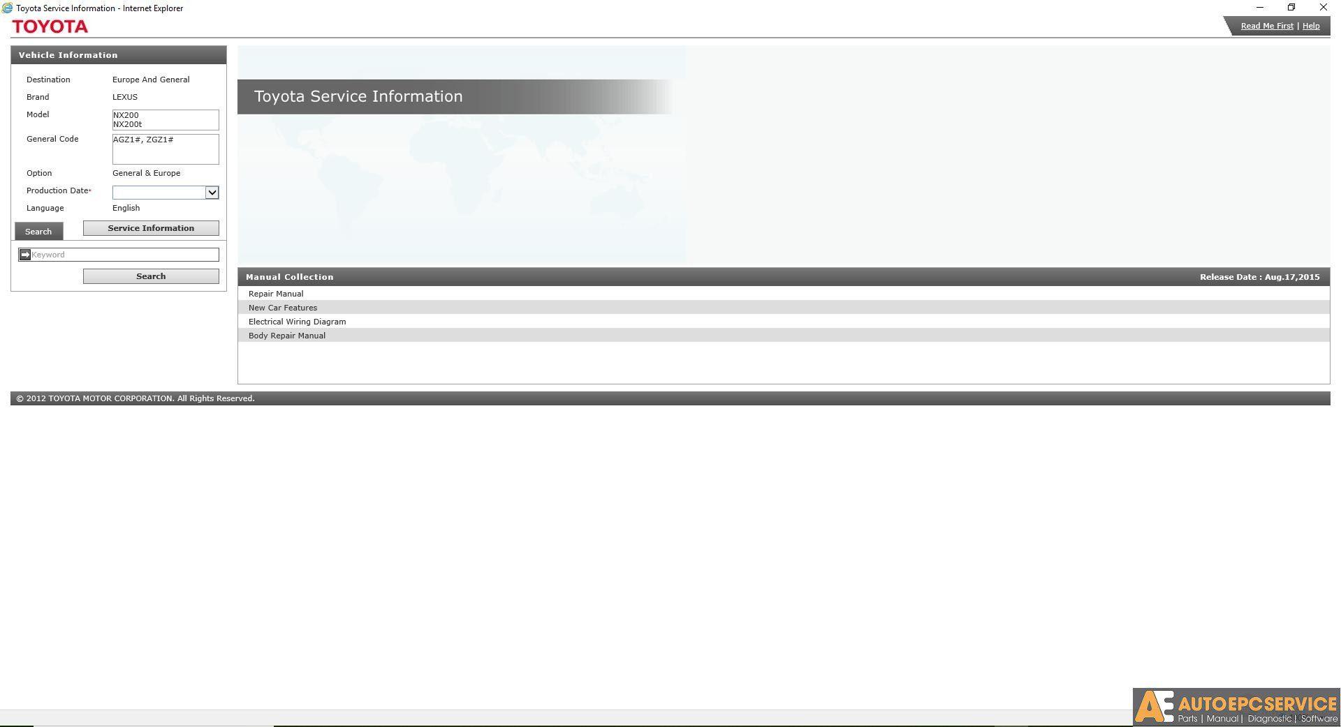 Lexus Nx200  Nx200t Gsic Workshop New Updated Manual Dvd