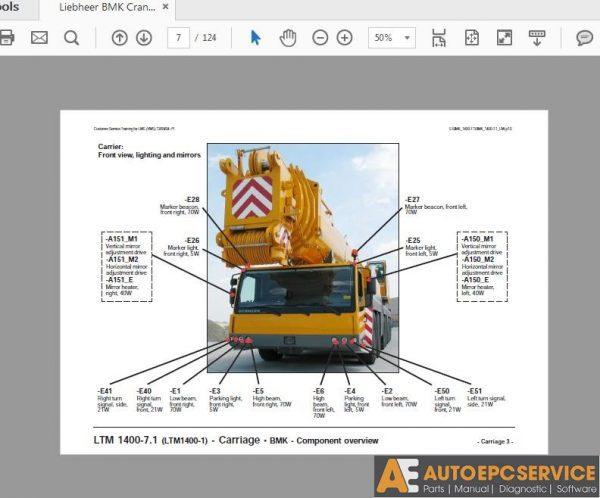 Liebherr Mobile Crane & Crawler Crane Shop Manual Full DVD