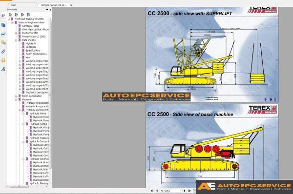 Terex Mobile  U0026 Crawler Crane Full Dvd Workshop Manual
