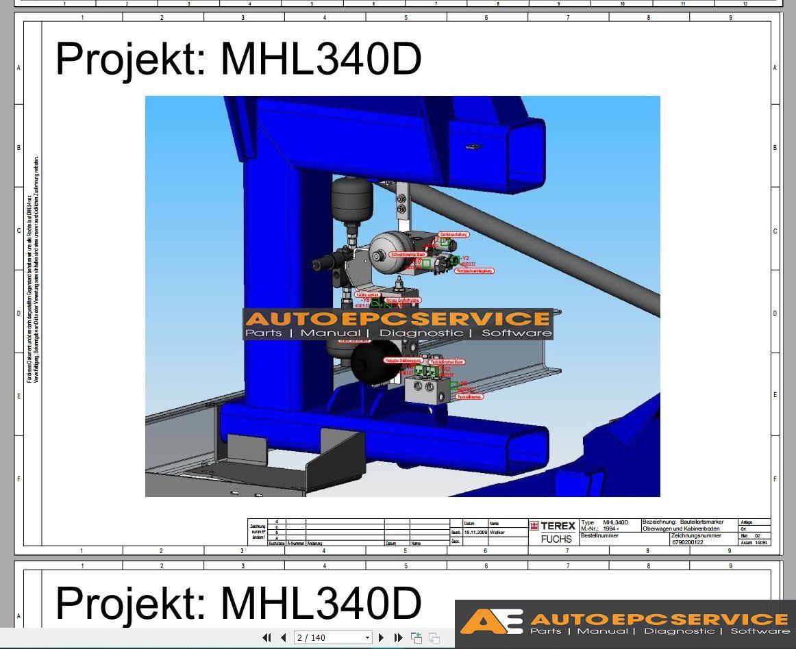 Terex Mhl Wiring Diagram  U0026 Electric Schematic Full Cd