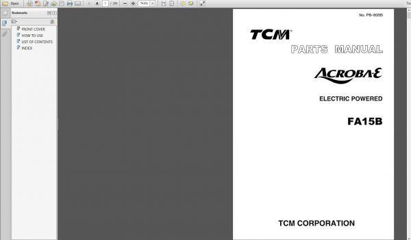 All_TCM_Forklift_Parts_Catalog_CD2