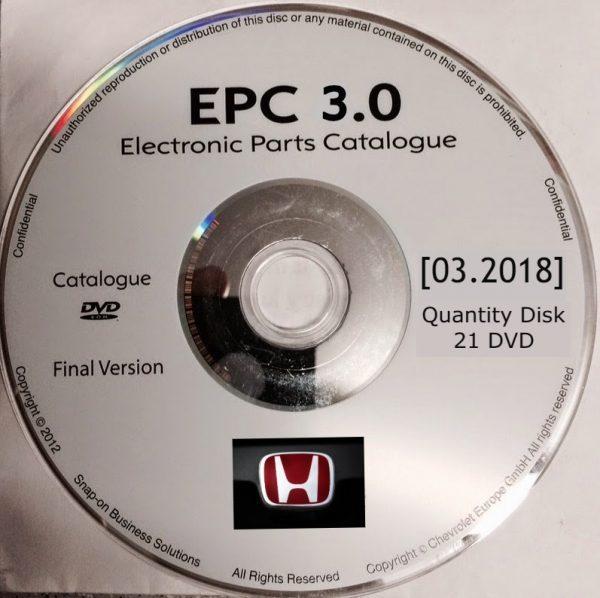 HONDA ELECTRONIC PARTS CATALOG EPC [03.2018]
