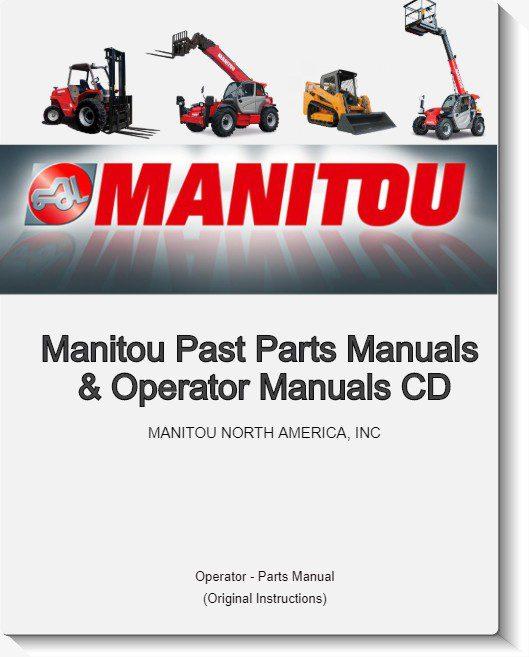 Manitou Past Parts Manuals & Operator Manuals CD