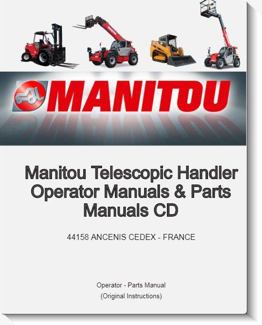Manitou Telescopic Handler Operator Manuals & Parts Manuals CD