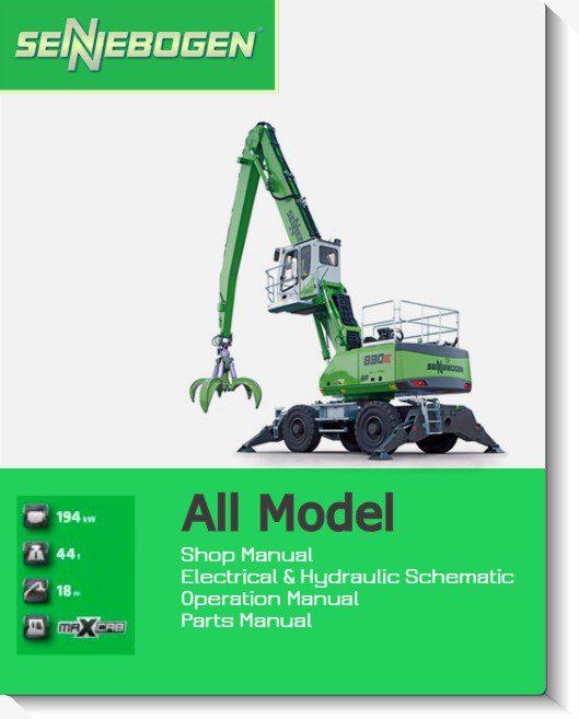 Sennebogen Full Shop Manual DVD