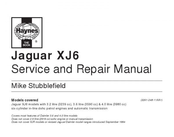 Jaguar S Type Service Repair Manual Jaguar S Type Pdf Downloads
