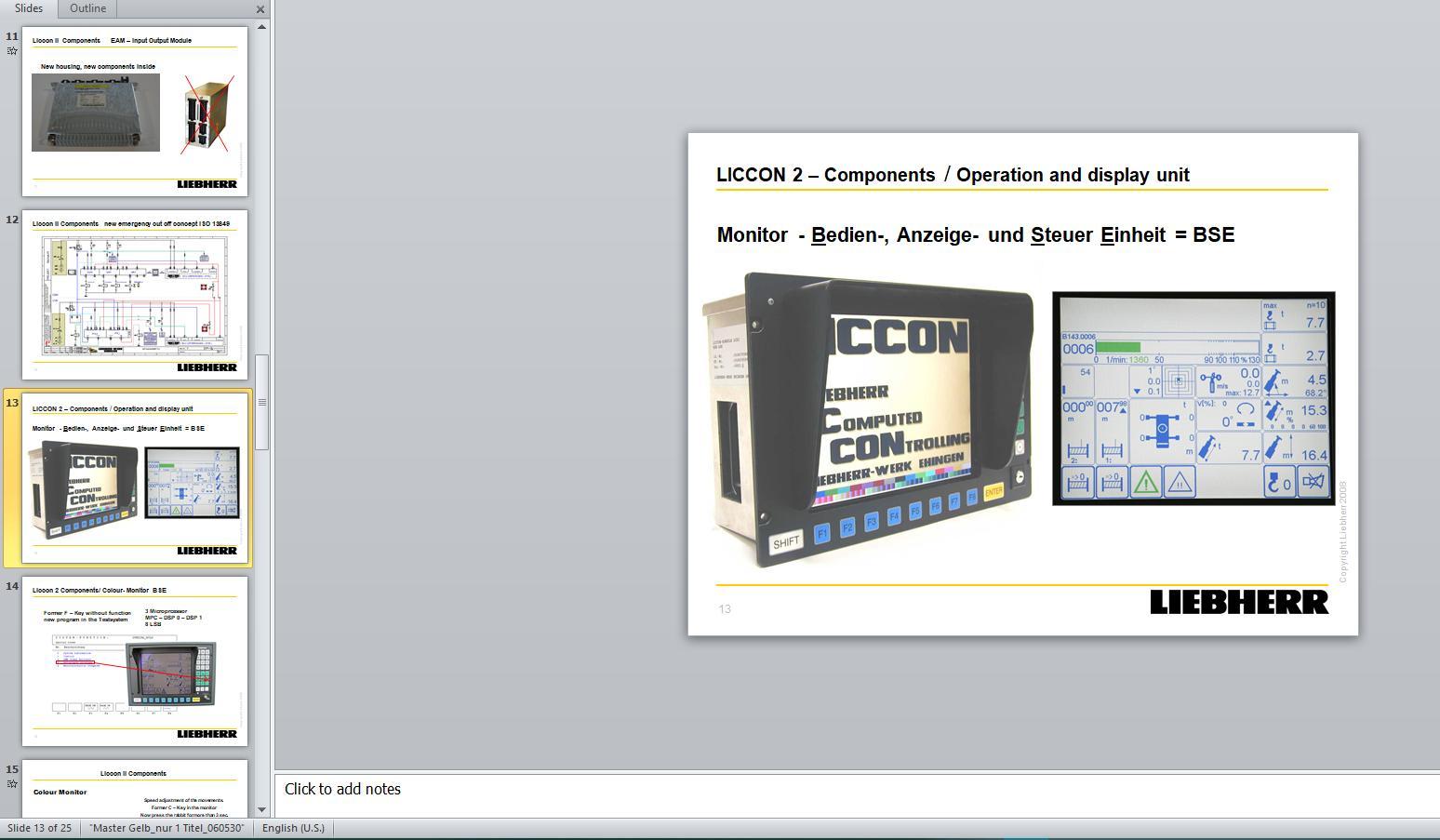 Liebherr Crane LICCON Error Codes Manual CD1