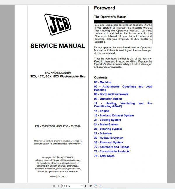 JCB_New_Model_Service_Manual_2019_Full_DVD6