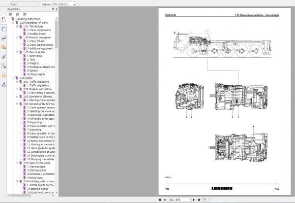 Liebherr Mobile Crane LTM 1100 Workshop Manual