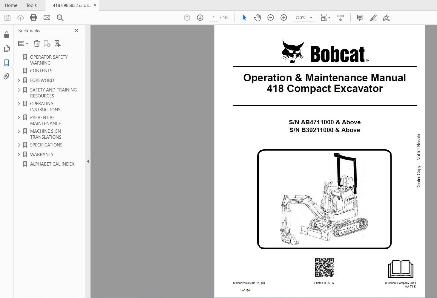Bobcat_Excavator_Service_Library_2017_DVD3