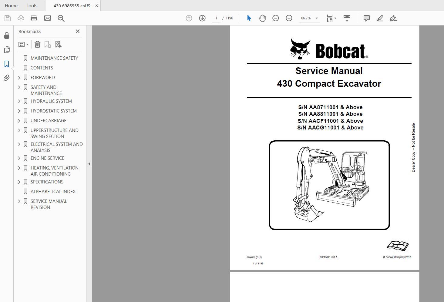 Bobcat_Excavator_Service_Library_2017_DVD7
