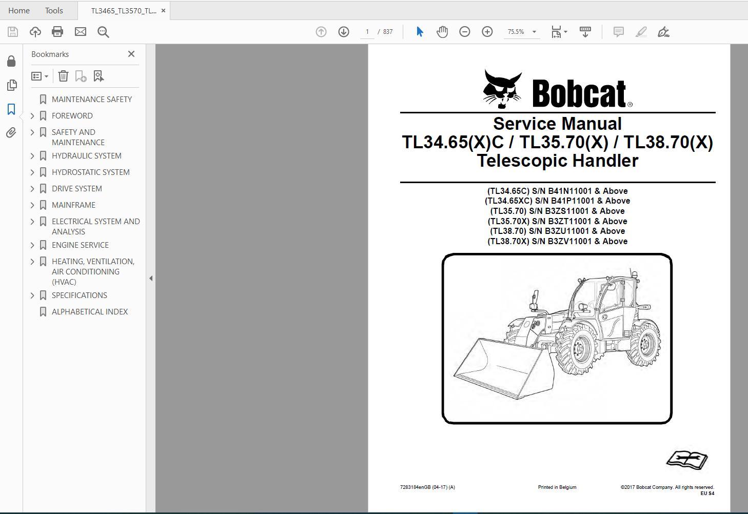 Bobcat_Versa_HANDLER_TTC_Telescopic_Handler_Service_Library_2017_DVD10