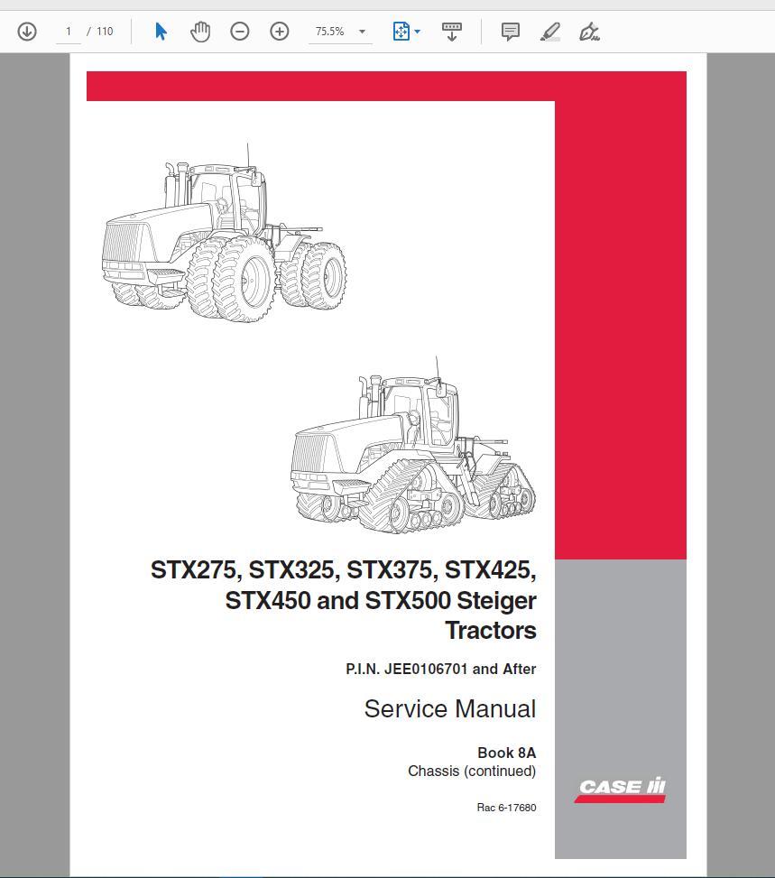 Case Tractor 140 /& 180 Spreader Operator/'s Manual