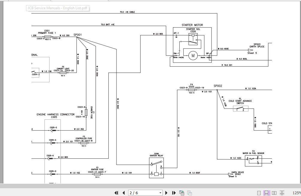 Jcb Mobile Platform G65qs G90qs, Jcb Wiring Diagram