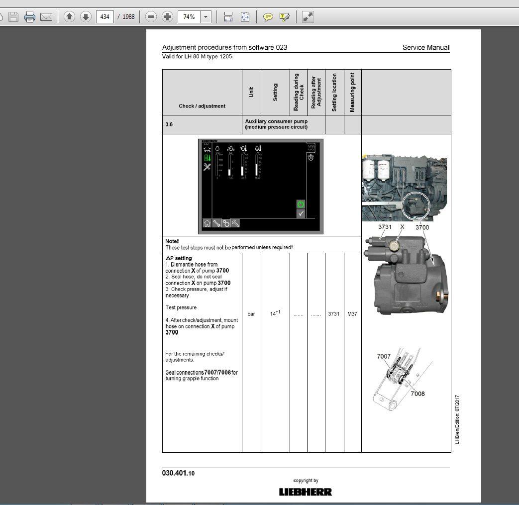 Liebherr Hydraulic Excavator LH80C-1213 LH80M-1205 Serive Manual_11651945 2