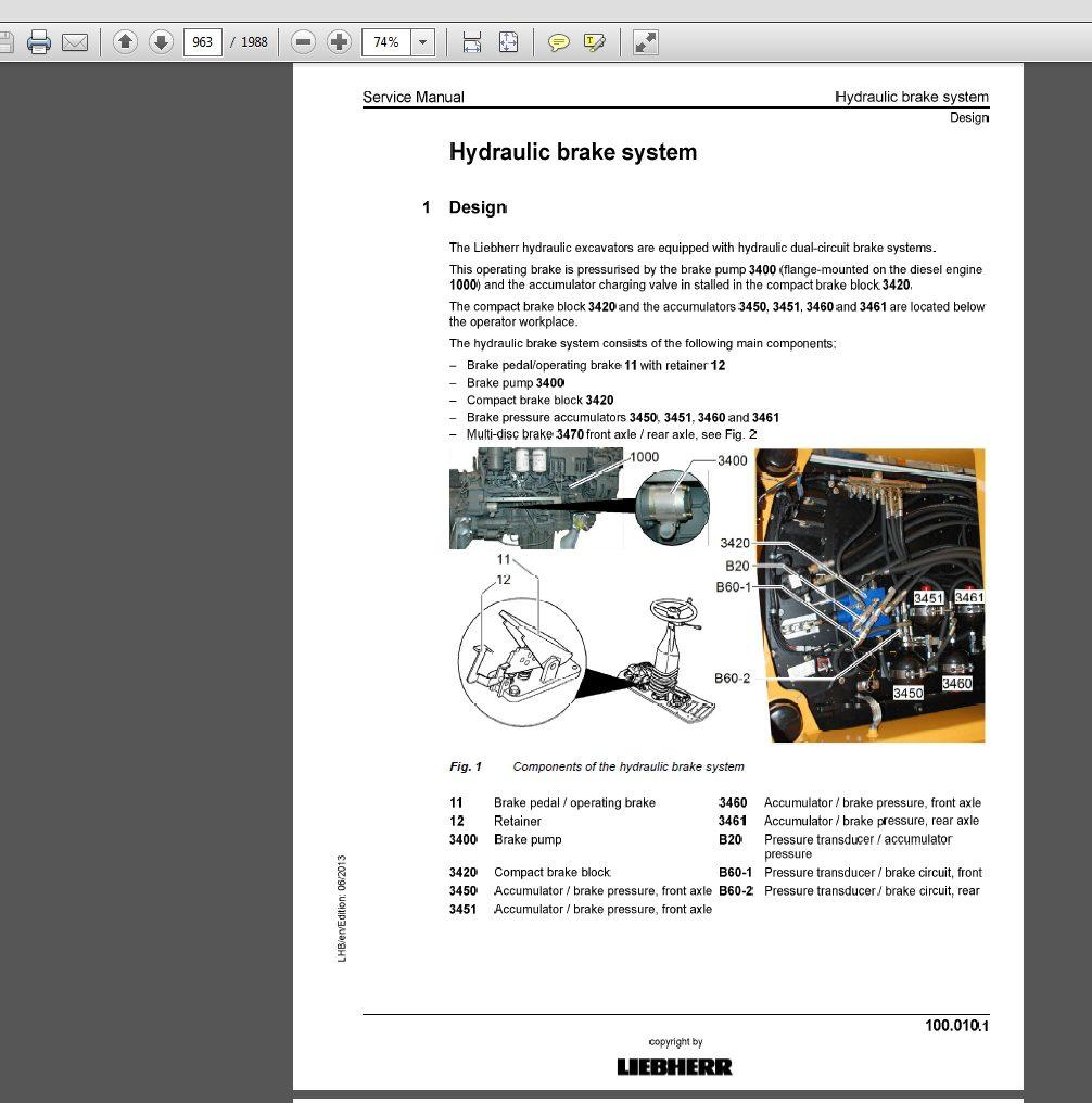 Liebherr Hydraulic Excavator LH80C-1213 LH80M-1205 Serive Manual_11651945 3