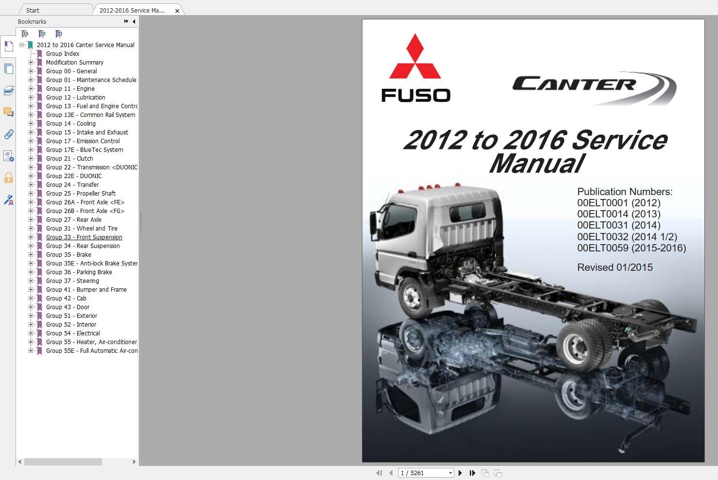 Mitsubishi_Truck_Fuso_2016_Service_Manual_Full_DVD8